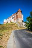 Stary kasztel od czternastego wieka w Sandomierz lokalizuje Vistula obraz stock