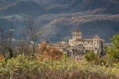 Stary kasztel Roviano, Włochy Zdjęcie Royalty Free