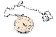 Stary kieszeniowy zegarek z łańcuchem zdjęcia royalty free