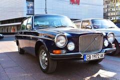 Stary klasyczny samochód wystawiający w na otwartym powietrzu wystawie zdjęcia royalty free