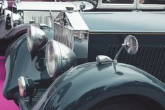Stary klasyczny samochodowy szczegół zdjęcie royalty free