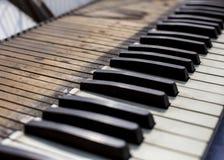 stary klawiaturowy pianino obraz royalty free