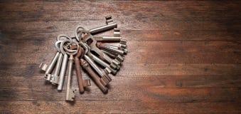 Stary klucz Wpisuje tło Zdjęcie Stock