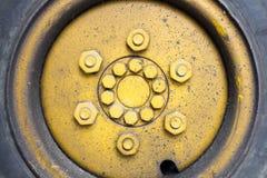 Stary koła forklift 2 Ja jest jeden najwięcej dzwonów w Europa Zdjęcie Royalty Free