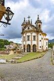 Stary kościół katolicki xviii wiek wokoło budowy i zdjęcie royalty free