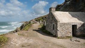 Stary kościół na nakrętce De Carteret Normandy Francja Obrazy Stock