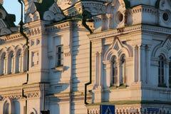 Stary kościół na ulicie Tyumen obrazy stock