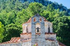 Stary kościół na wyspie Rhodes Zdjęcia Royalty Free