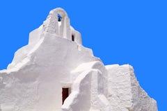 Stary kościół Panagia Paraportiani przy Mykonos wyspą Obraz Stock