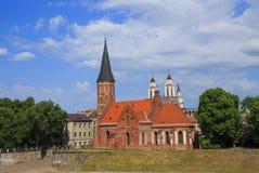 Stary kościół St George w Kaunas Lithuania fotografia stock
