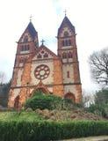 Stary kościół, kościół, Tradycyjny kościół, czerwona cegła, Niemcy, Europa Zdjęcia Stock