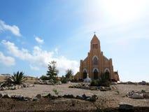Stary kościół w pustyni Fotografia Royalty Free