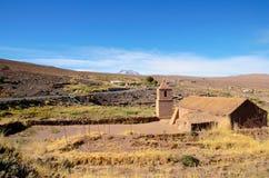 Stary kościół w Socaire obrazy royalty free
