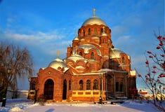 Stary kościół w Sviyazhsk, Kazan zdjęcie stock