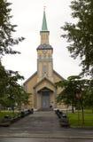 Stary kościół w tromso Obrazy Royalty Free