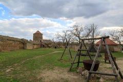 Stary kocioł wśrodku Akkerman fortecy w belgorod, Odessa obrazy royalty free