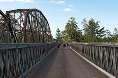 Stary kolei, granicy most przez Sixaola rzekę między i zdjęcie stock