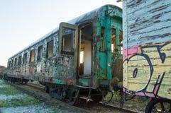 Stary kolejowy furgon Obrazy Stock