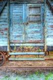 Stary kolejowy furgon Zdjęcia Royalty Free
