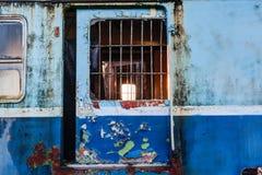 Stary kolejowy furgon Zdjęcia Stock