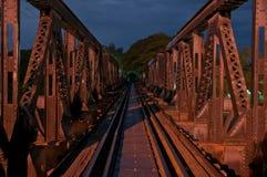 Stary kolejowy most. Obraz Royalty Free