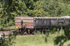 Stary Kolejowy samochód zdjęcie royalty free