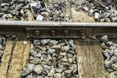 Stary kolejowy złącze z przerwą Fotografia Royalty Free