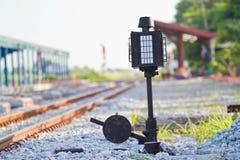 Stary kolejowy zmiana przyrząd zdjęcie royalty free