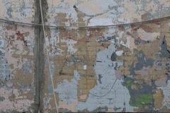Stary koloru ściana z cegieł z ekspresyjnymi punktami błękitny, beżowy, szary, lily, zieleń fotografia royalty free
