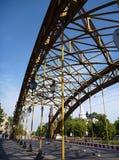 Stary koloru żółtego most w Wrocławskim Fotografia Royalty Free