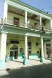 Stary koloru żółtego, wapna budynek w Hawańskim/, Kuba Obraz Stock