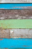 Stary koloru twardego drzewa deski zbliżenie dla tła obrazy royalty free