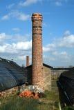 Stary komin i boilerhouse dziejowy holenderski ogrodniczy zdjęcia royalty free