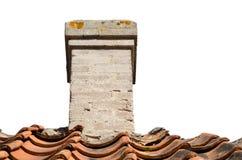 Stary komin na dachu Zdjęcia Stock
