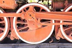 Stary kontrpara pociągu koło Obrazy Royalty Free