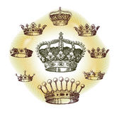 stary korona set Zdjęcie Stock