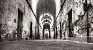 stary korytarza więzienie Obrazy Royalty Free