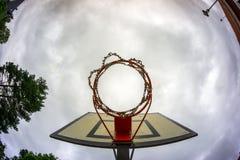 Stary koszykówka obręcz Obraz Stock