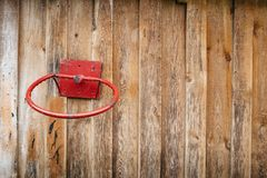 Stary koszykówka pierścionek fotografia stock
