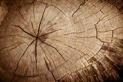 Stary krakingowy drewno Zdjęcie Stock