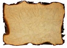 stary krawędź palący papier Zdjęcie Royalty Free