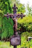 Stary krucyfiks z Jezus Obraz Royalty Free