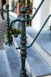 Stary kruszcowy zielony poręcz fotografia Zdjęcie Royalty Free