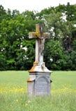 Stary krzyż w krajobrazie Obraz Royalty Free