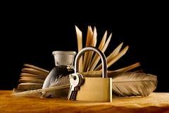 stary książkowy keylock Fotografia Stock