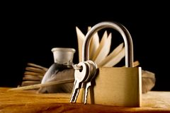 stary książkowy keylock Obraz Royalty Free