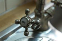 Stary kuchenny faucet Zdjęcie Stock