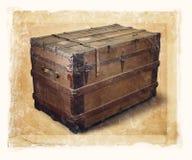 stary kufer Obraz Stock