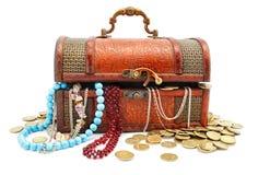 stary kufer skarbów wiek drewna obraz royalty free