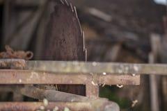 Stary kurendy saw dla drewna zdjęcie royalty free